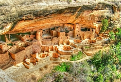 Ten Kivas at Cliff Palace HDR