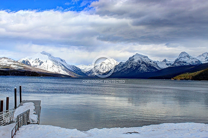 View from Apgar Pier on Lake McDonald