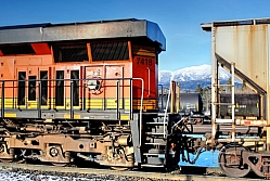 Railcars and Whitefish Mountain