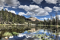 Butterfly Lake in the Uinta Range