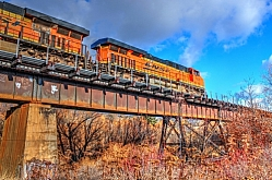 Engine on the Whitefish River Bridge