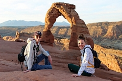 Photographers Pose at Delicate Arch